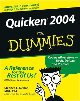 Quicken 2004 for Dummies, Stephen L Nelson (manual/book)