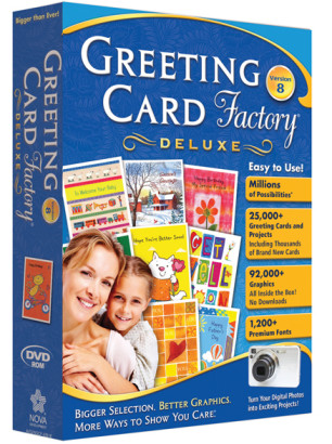 Greeting Card Factory Deluxe Version 8 box