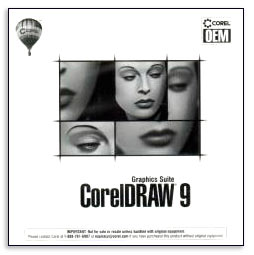 CorelDraw 9 Graphics Suite OEM box