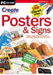 Create Your Own Posters & Signs box
