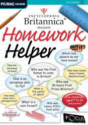 Encyclopedia Britannica Presents Homework Helper box