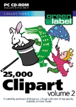 25,000 Clip Art Volume 2 box