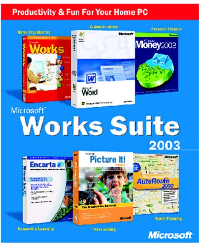 Works Suite with Money 2003 box