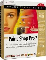 Paint Shop Pro 7 10th Anniversary Edition box