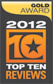 Top Ten Reviews Gold Award for DeskTop publishing Software